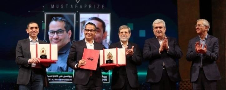 Dr. Ali Khademhosseini, CEO and Director of the Terasaki Institute for Biomedical Innovation, receives the 2019 Mustafa Prize